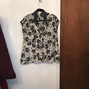 Anthropologie insect silk top
